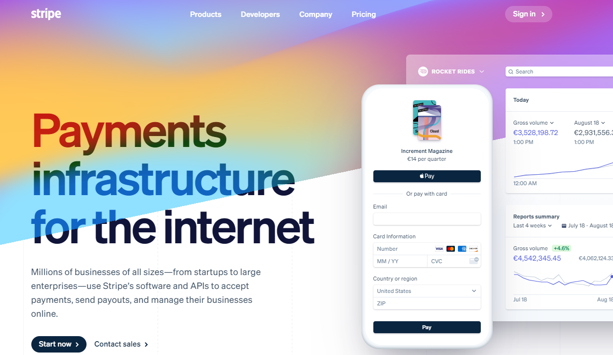 Stripe as the best payment processing software for online businesses