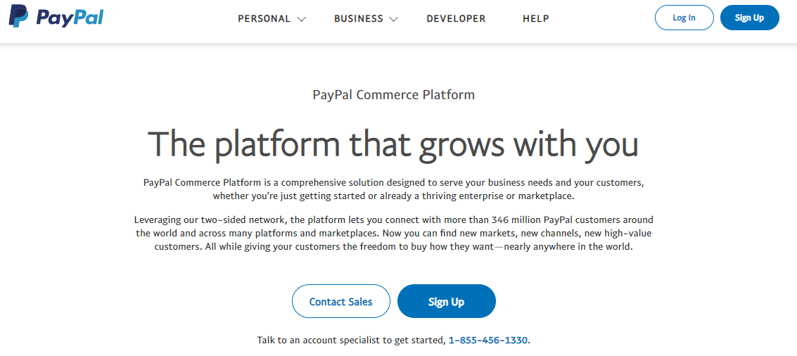 PayPal as the best payment processing software for online businesses